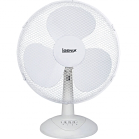 "Igenix 9"" Desk Fan (white)"