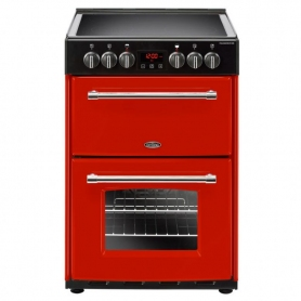 Belling 60cm Double Oven Cooker (red - A/A energy rating)