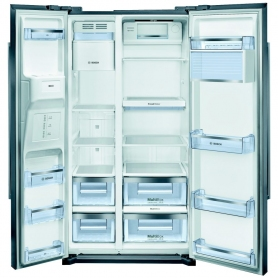 Bosch American Style Frost Free Fridge Freezer (stainless steel A+ energy rating)